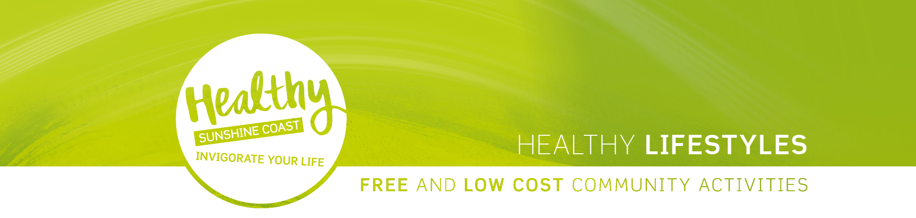 healthy lifestyles lime banner