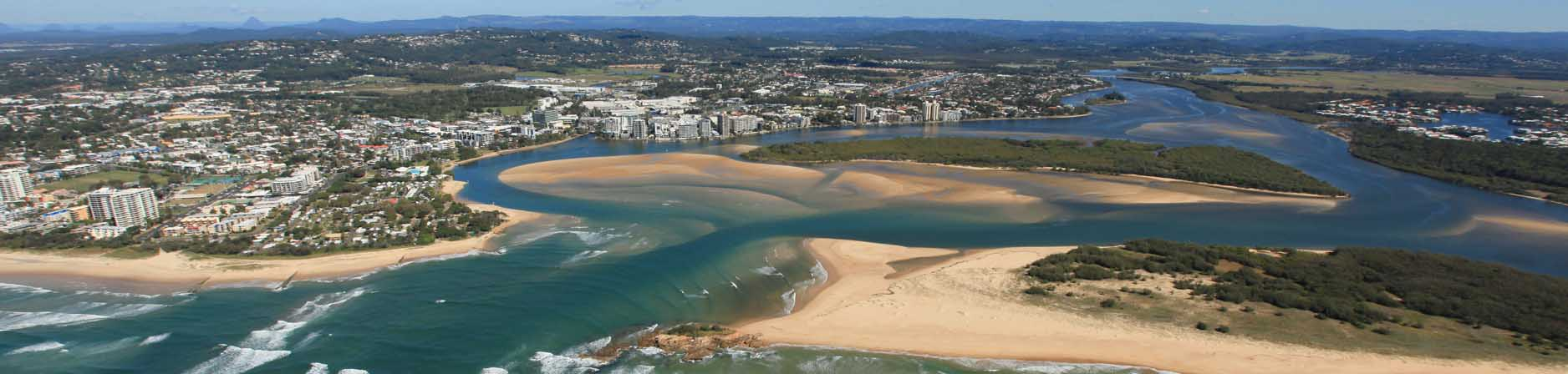 aerial view of Maroochy groyne
