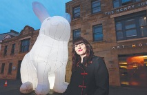 2D judge, Amanda Parer with the Intrude installation