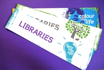 Library book marks colour your life