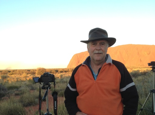 Brian Machin pictured at Uluru