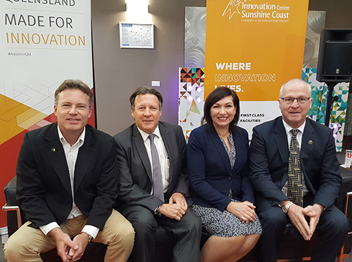Mark Paddenburg, Tony Wellington, Minister Leeanne Enoch, Mark Jamieson