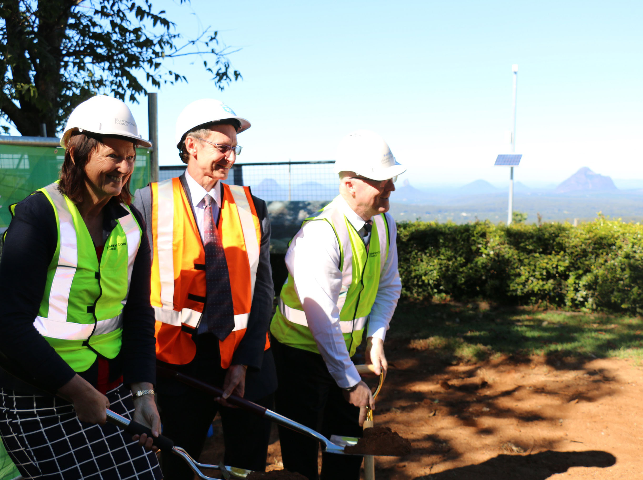 Mary Cairncross Scenic Reserve sod turning