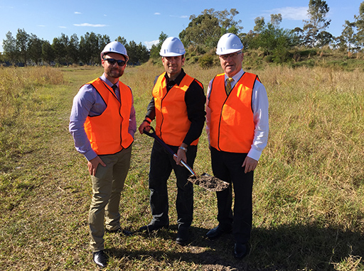 Sod turning for Youi global HQ at Sippy Downs