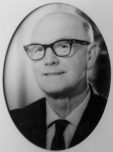 Cr Jack Beausang, Chairman of Landsborough Shire Council for twenty four years, ca 1970